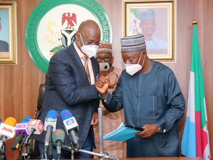 Governor Abdullahi A. Sule and Speaker, Nasarawa State House of Assembly, Alhaji Ibrahim Balarabe Abdullahi