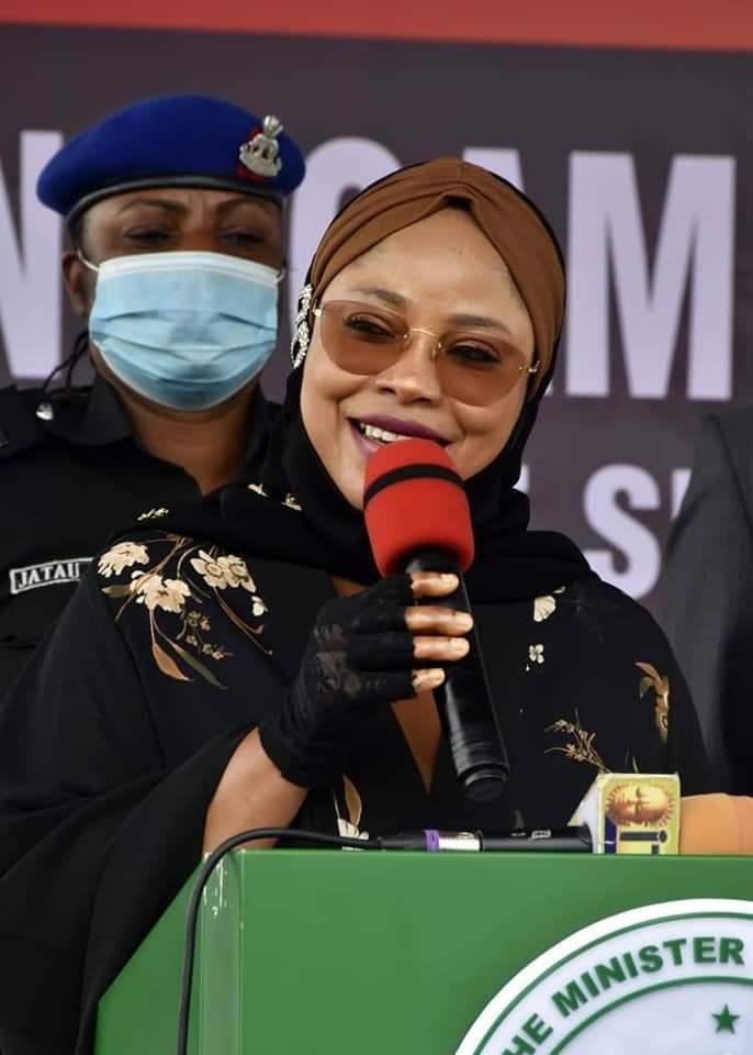 The minister of state for FCT, Hajiya Ramatu Tijjani Aliyu